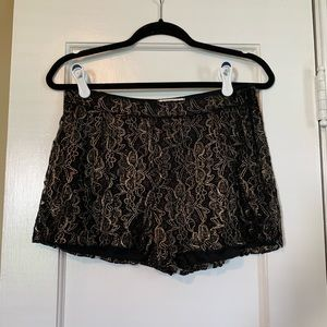 Black and gold shorts